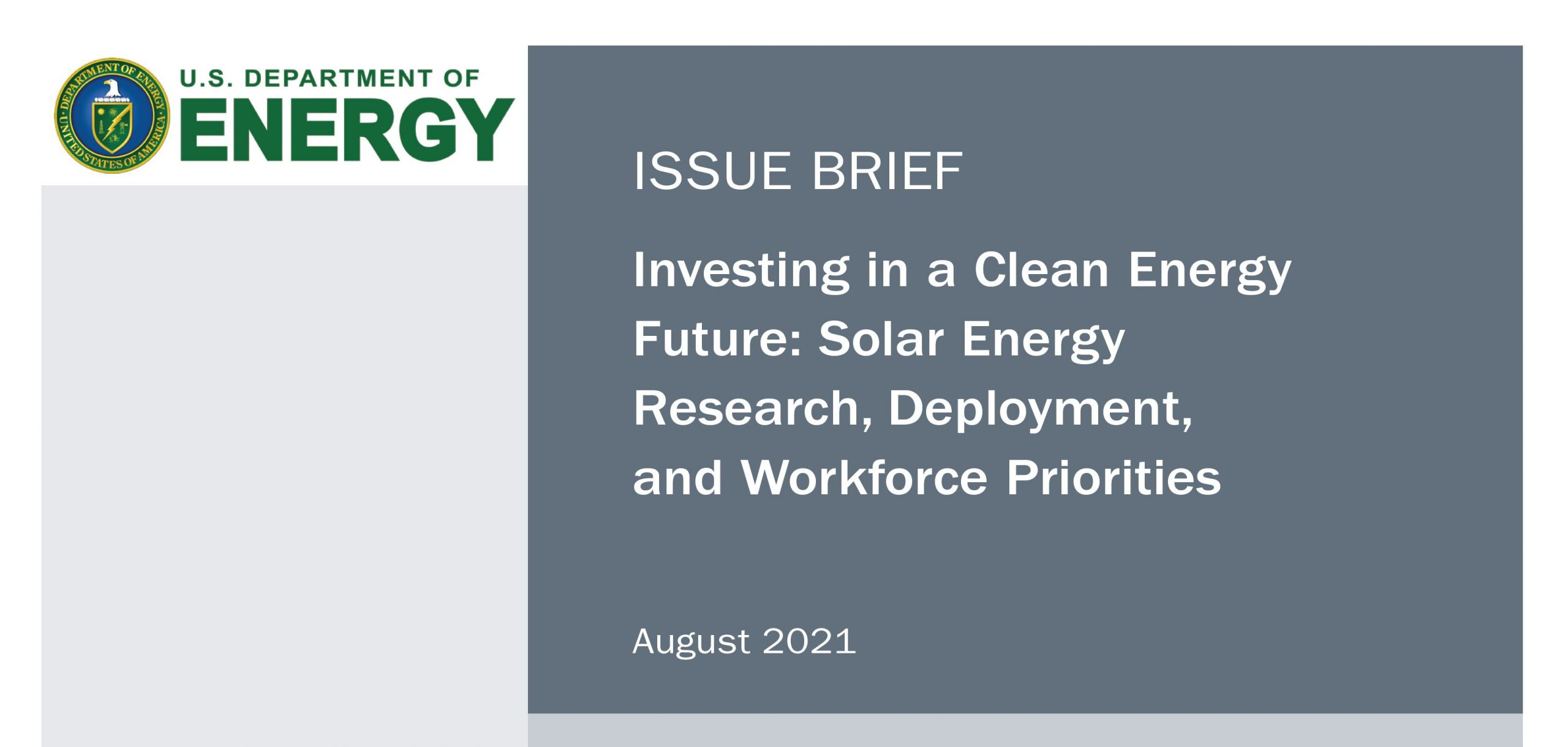 New US DOE Issue Brief